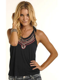 Rock & Roll Cowgirl Women's Jeweled Halter Top, , hi-res