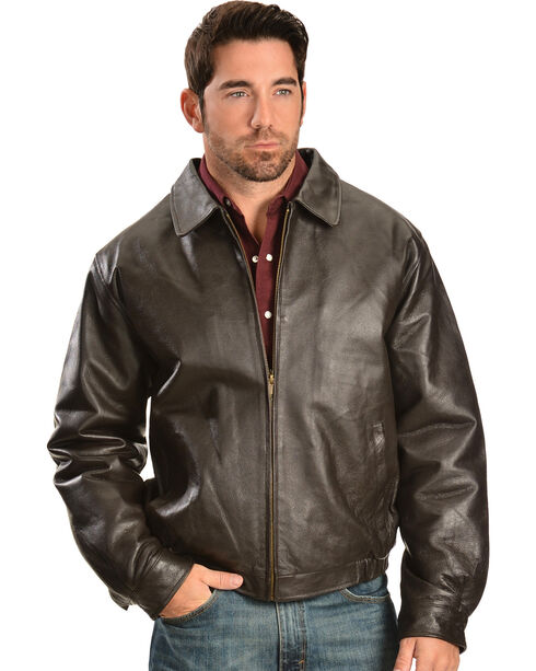 Vintage Leather Men's Brown Leather Bomber Jacket | Boot Barn