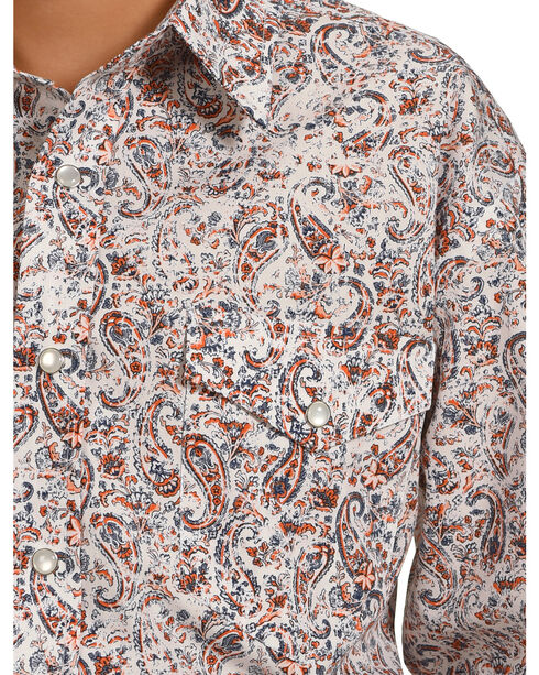 Rough Stock by Panhandle Boys' Patterned Long Sleeve Shirt , Multi, hi-res