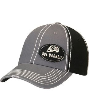 Double Barrel Logo Patch Cap, Grey, hi-res