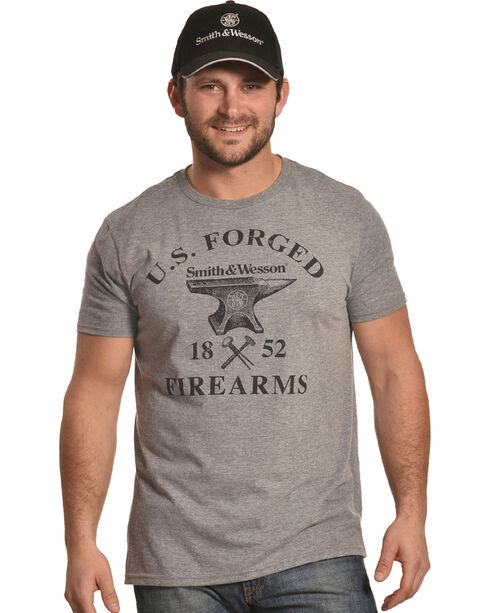 Smith & Wesson Men's Grey Forged Iron Firearms Tee , Grey, hi-res