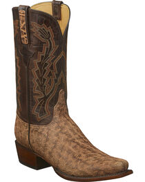 Lucchese Men's Kirkland Tan Elephant Western Boots - Square Toe, , hi-res