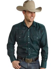 Roper Men's Tone On Tone Embroidered Western Shirt, , hi-res