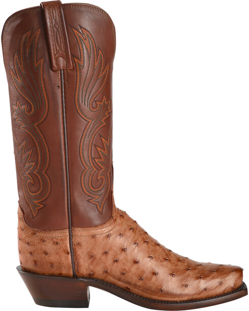 lucchese s brown dolly quill ostrich western