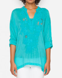 Johnny Was Women's Green Tropical Lusana Blouse , , hi-res