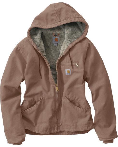 Carhartt Women's Sandstone Sierra Sherpa Lined Jacket, Grey, hi-res