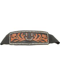 Ariat Women's Horseshoe Overlay Elastic Waist Belt, , hi-res
