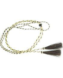 Blonde & Black Braided Horsehair Tassels Stampede String, , hi-res
