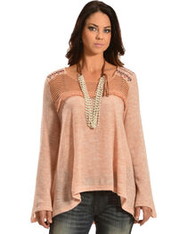 Flying Tomato Women's Bell Sleeve Knit Top, , hi-res