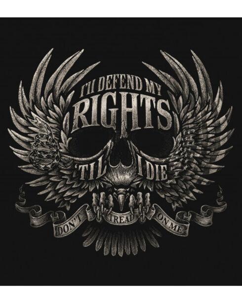 Buck Wear Men's Black Defend My Rights Tee , Black, hi-res