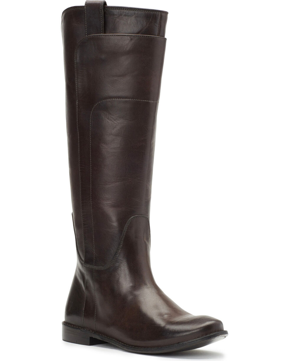 Frye Women's Smoke Paige Tall Riding Boots - Round Toe , Dark Grey, hi-res