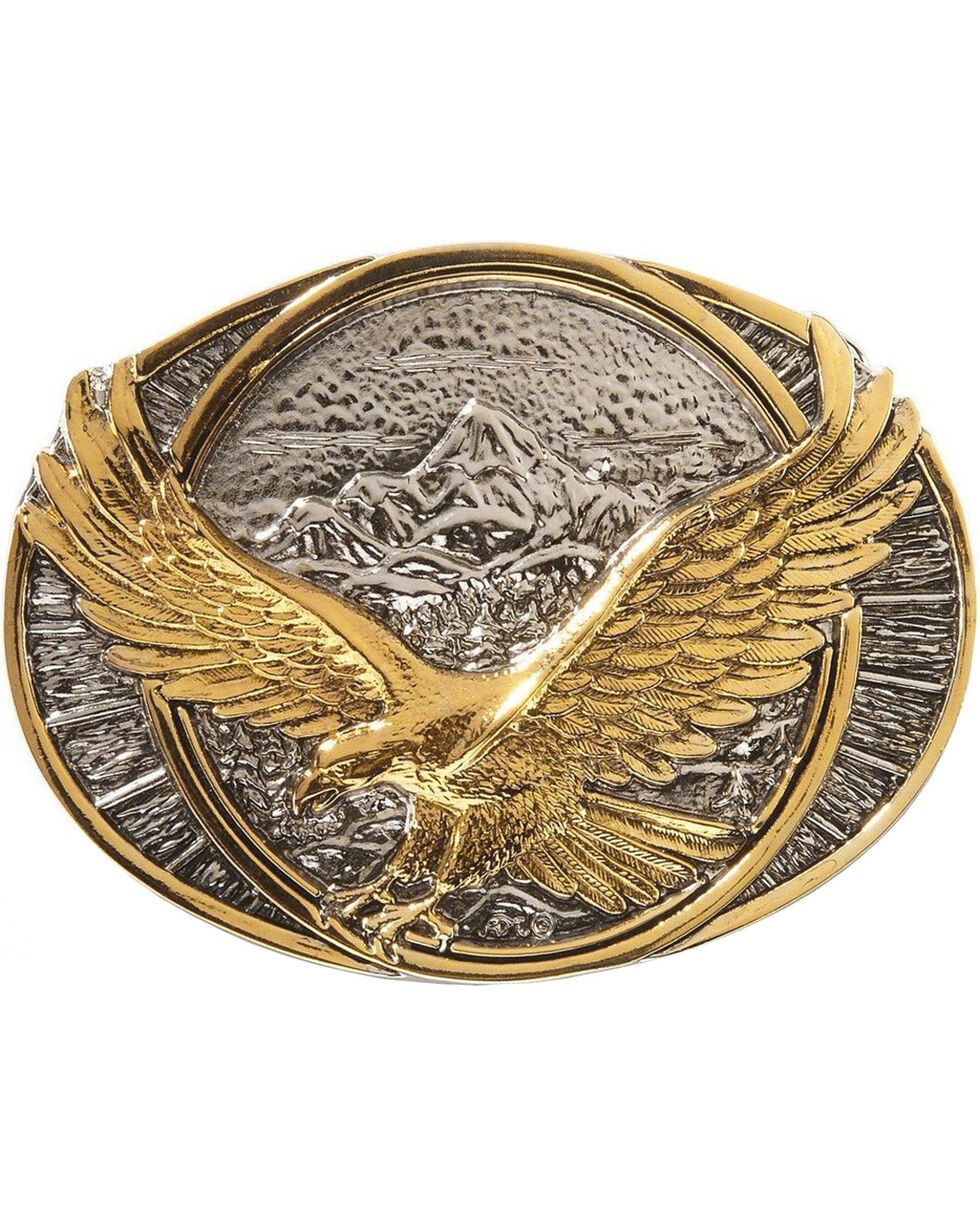 Montana Silversmiths Soaring Eagle Buckle, Silver, hi-res