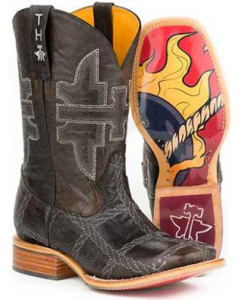 Tin Haul Men's Rope Burn Western Boots, Brown, hi-res
