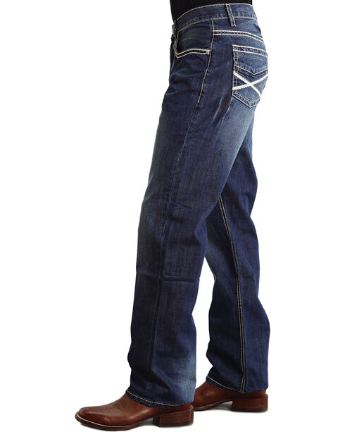 Stetson Men's Modern Fit Boot Cut Jeans, Med Wash, hi-res