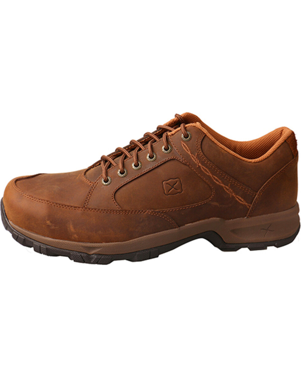 Twisted X Men's Distressed Saddle Hiking Shoes, Brown, hi-res