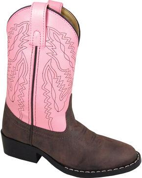 Smoky Mountain Girls' Monterey Western Boots - Round Toe, Brown, hi-res
