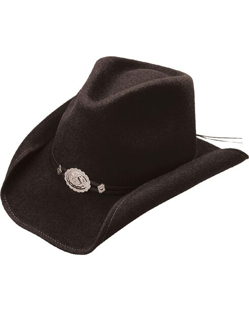 Stetson Hollywood Drive Shapeable Wool Hat, Black, hi-res