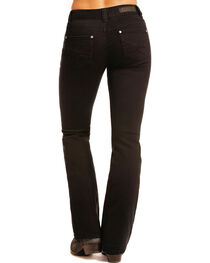 Rock & Roll Cowgirl Women's Black Crossing Flat Jeans - Boot Cut , , hi-res