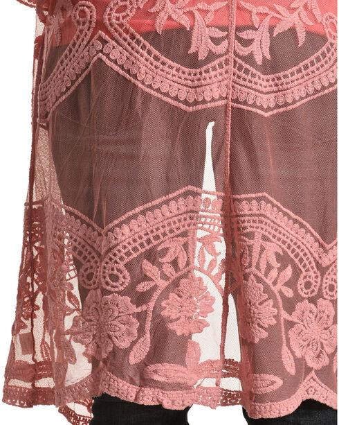 Polagram Women's Rose Lace Kimono, Pink, hi-res