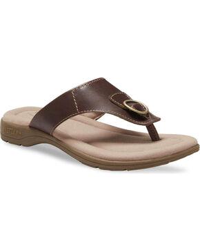 Eastland Women's Brown Lottie Thong Sandals , Brown, hi-res