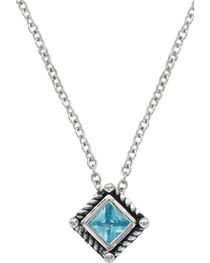 Montana Silversmiths Roped Blue Starlight Necklace, , hi-res