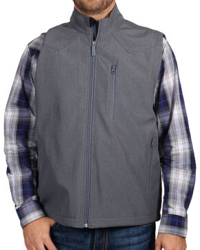 Cody James® Men's Zip Front Vest, Grey, hi-res