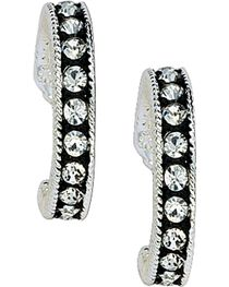 Montana Silversmiths Women's Crystal Shine Hoop Earrings, , hi-res