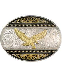 Montana Silversmiths 2-Tone Eagle Buckle, , hi-res