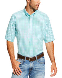 Ariat Men's Aqua Norrington Short Sleeve Shirt , , hi-res