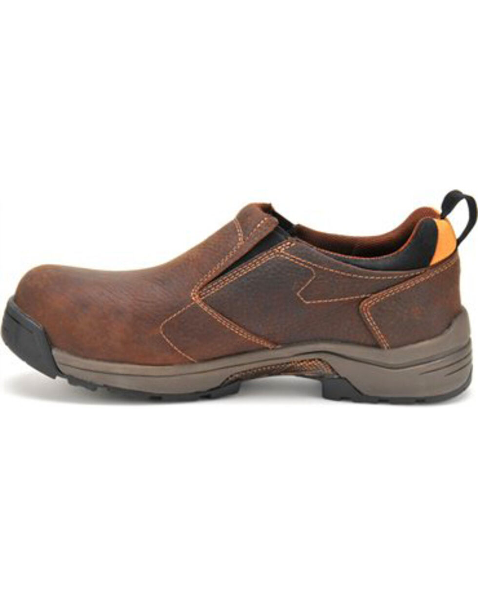 Carolina Men's ESD Composite Toe Slip-On, Brown, hi-res