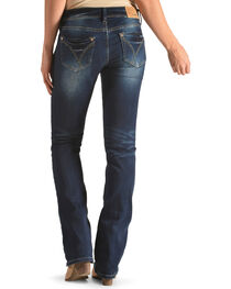 Grace in LA Women's Indigo Simple Pocket Jeans - Boot Cut , , hi-res
