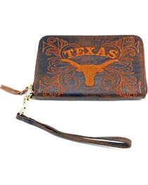 Gameday Boots University of Texas Leather Wristlet, , hi-res