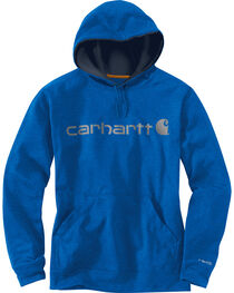 Carhartt Men's Dark Blue Force Extremes™ Signature Graphic Hooded Sweatshirt, , hi-res