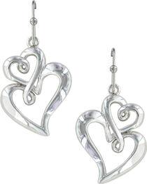 Montana Silversmiths Women's Infinite Love Heart Earrings  , , hi-res