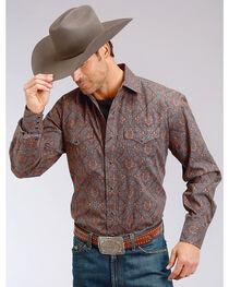 Stetson Men's Paisley Print Long Sleeve Snap Shirt - Big & Tall, , hi-res