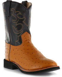 Cody James® Youth Ostrich Print Western Boots, , hi-res