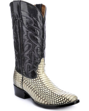 Circle G Cobra Cowboy Boots - Round Toe, Natural, hi-res