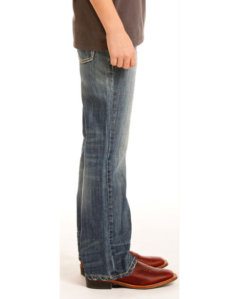 Rock & Roll Cowboy Boys' Indigo (7-20) Stitched Jeans - Boot Cut, Indigo, hi-res