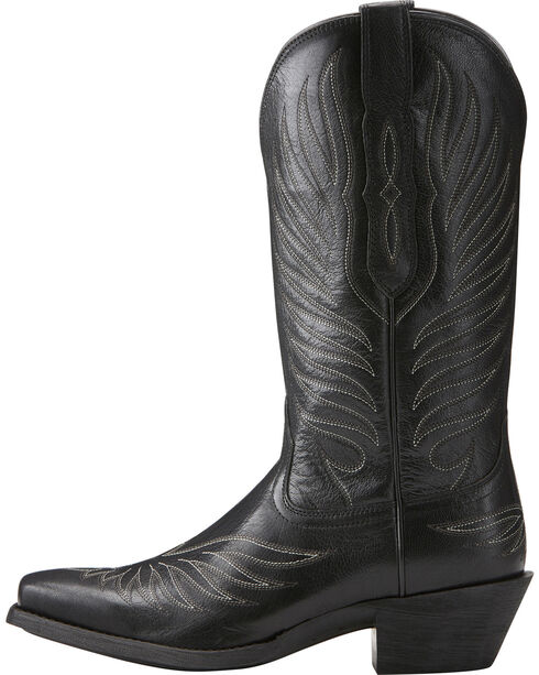 Ariat Women's Black Round Up Phoenix Boots - Square Toe , Black, hi-res