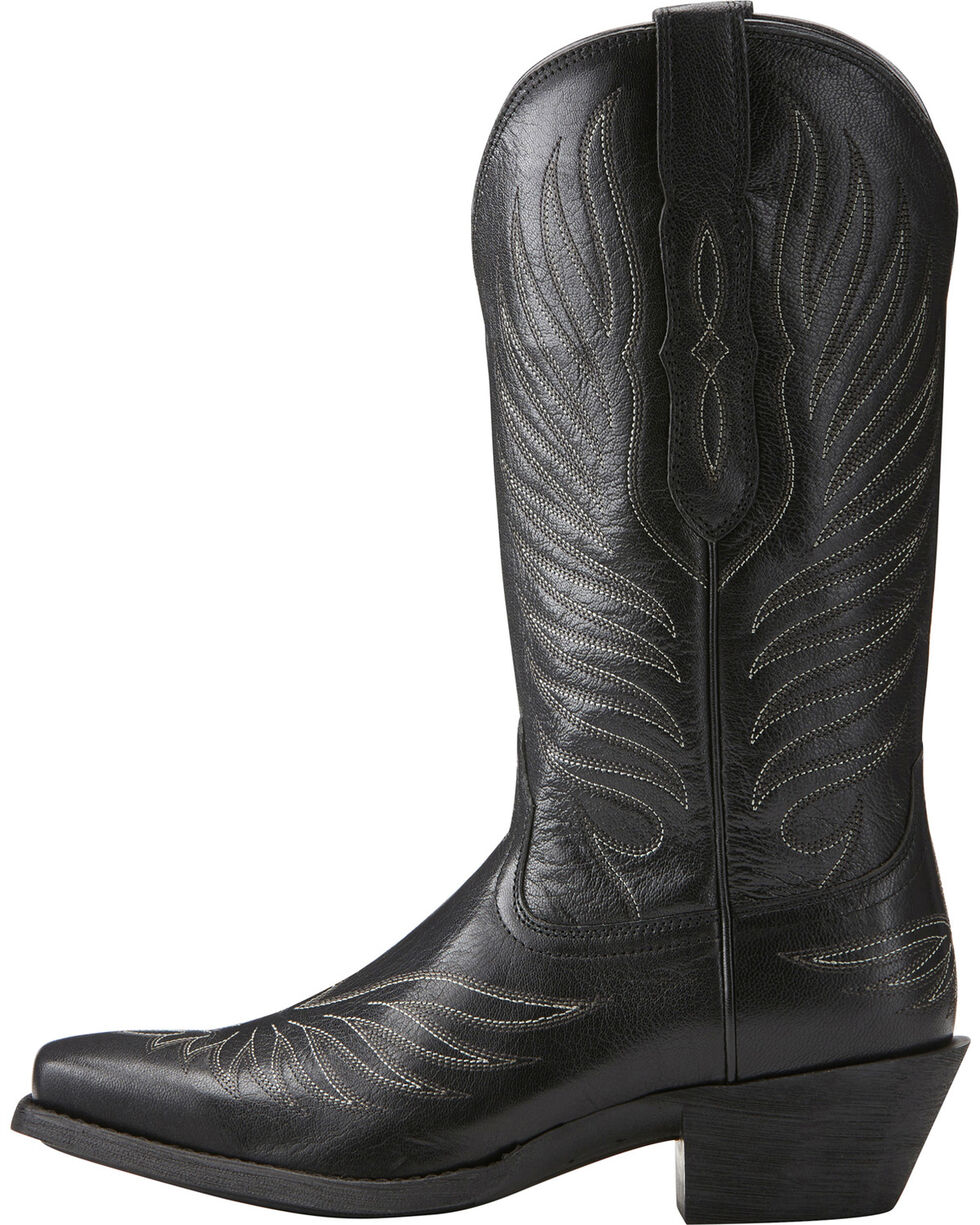 Ariat Women's Black Round Up Phoenix Boots - Square Toe , , hi-res