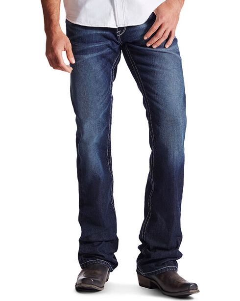 Ariat Men's M6 Low Rise Slim Boot Cut Jeans, Indigo, hi-res