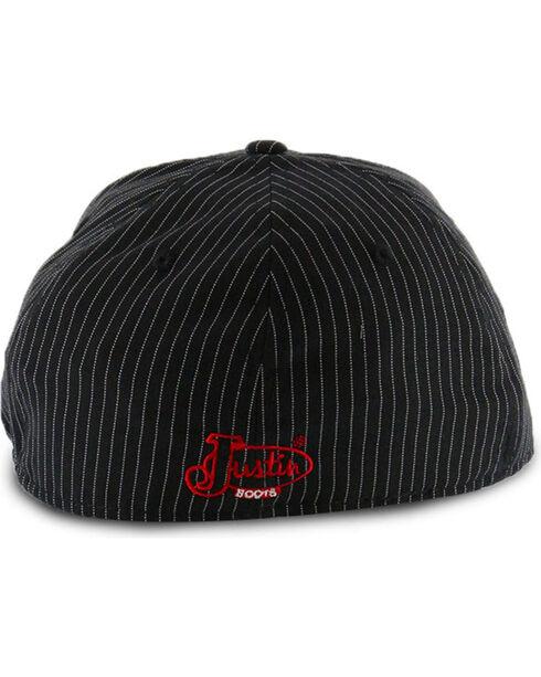 Justin Men's Pin Stripe Flex Ball Cap, Black, hi-res