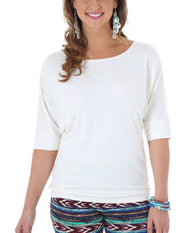 Wrangler Rock 47 Women's White Dolman Sleeve Tunic , , hi-res