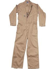 Lapco Men's Khaki FR Deluxe Coveralls , , hi-res