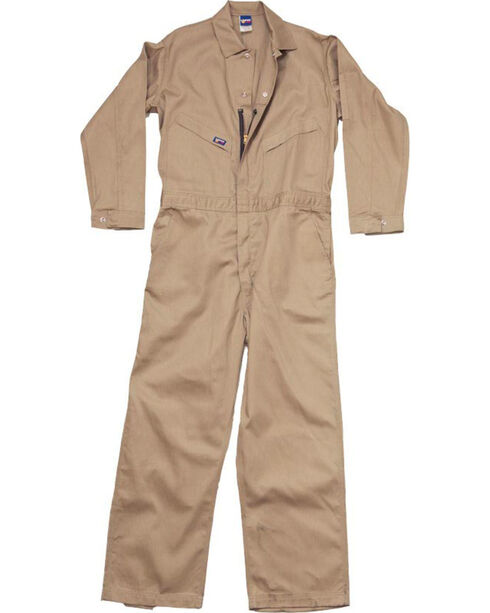 Lapco Men's Khaki FR Deluxe Coveralls , Beige/khaki, hi-res