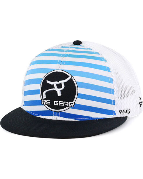 RopeSmart Men's Stripe Snap-Back Ball Cap, Blue/white, hi-res