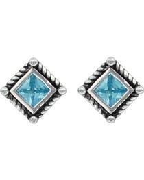 Montana Silversmiths Roped Blue Starlight Earrings, , hi-res