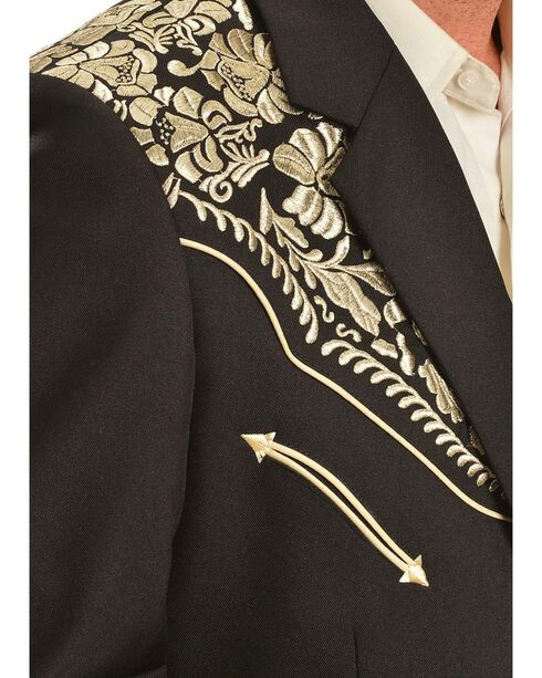 Scully Men's Floral Embroidered Blazer, Gold, hi-res