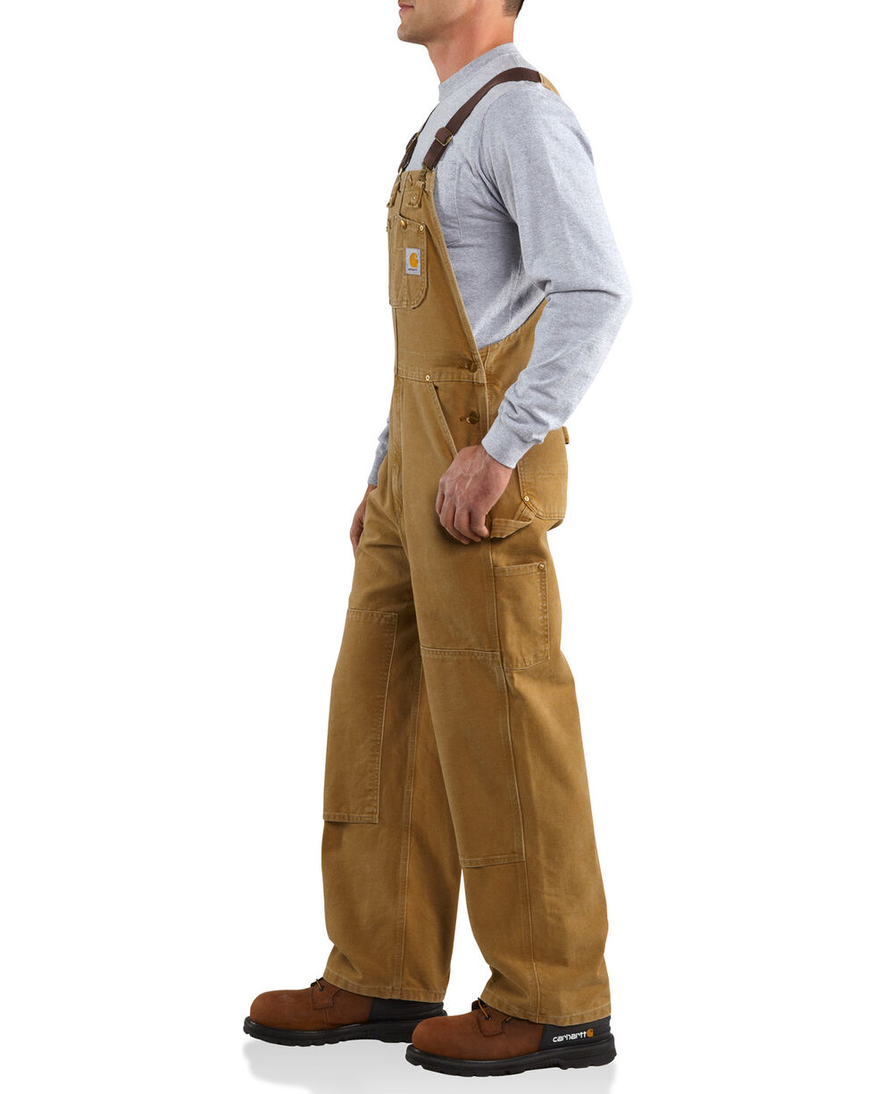 Carhartt Unisex Duck Bib Unlined Overalls, Brown, hi-res
