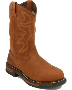 Rocky Men's Branson Roper Waterproof Western Boots, Distressed, hi-res
